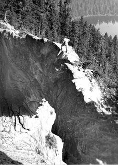 A natural rock bridge, Mt Ranier, Washington state.