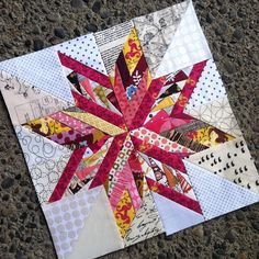 Block Mixture of Ohio star and Oklahoma star. - Dress Models Block Mixture of Ohio star and Oklahoma star. Star Quilt Blocks, Star Quilt Patterns, Strip Quilts, Paper Piecing Patterns, Mini Quilts, Pattern Blocks, Pattern Paper, Paper Pieced Quilt Patterns, Block Quilt