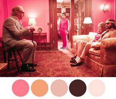 The Royal Tenenbaums prominently features every blush shade under the sun, sparking drama with palettes of dusty rose, vampy red, and creamy beige. Get the look with powdery-pink vintage...
