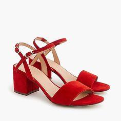 Strappy block-heel sandals (60mm) in suede women shoes c