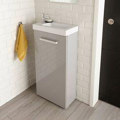 Lave-mains gris Beryl - CASTORAMA