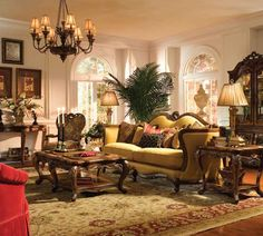 Michael Amini Palais Royale Living Room Collection Nebraska Furniture Mart Victorian Decor