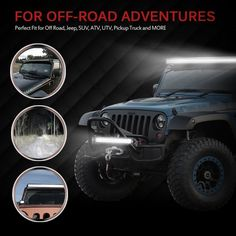 "Amazon.com: MICTUNING 40""-42"" 240W LED light bar COMBO spot flood 15000 lm off road ATV SUV utv Jeep With Wiring Harness: Automotive"