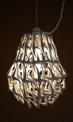 lamp shade 3d print nylon by studioluminaire