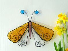 Stained glass suncatcher - Night butterfly