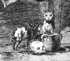 La sorcière - Détail | Fransisco Goya