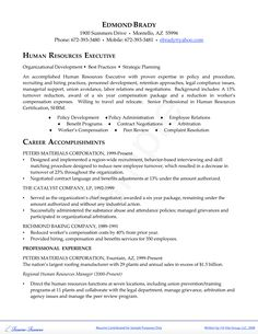 resume format for hr executive resume example