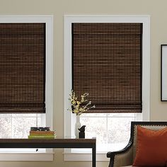 The beautiful Real Simple Natural Roman Shade is made out of bamboo and brings a rich ambience to any room. The shade features natural, woven wood, clean lines and a woven-edge banding that provides a customized look. House Blinds, Blinds For Windows, Window Blinds, Room Window, Wood Blinds, Bamboo Roman Shades, Main Image, Panel Moulding, Crown Moldings