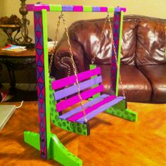 Swing I painted for an American Girl Doll