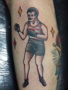 Tattooed this fun boxer yesterday super fun to do!