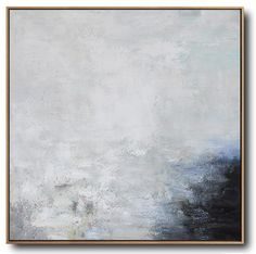 CZ Art Design - Abstract Landscape Art #XB124A, square abstract landscape painting canvas art, neutral colors, large canvas wall art.