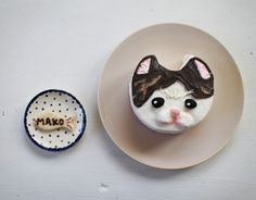 A little kitty cat birthday cake for kitty!