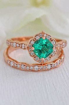 Engagement Rings  :     Picture    Description  30 Rose Gold Wedding Rings You'll Fall In Love ❤️ rose gold wedding rings cushion cut halo floral pave band ❤️ See more: www.weddingforwar… #weddingforward #wedding #bride