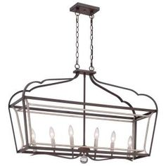 Minka Lavery Astrapia 6-Light Dark Rubbed Sienna with Aged Silver Island Light 4346-593 at The Home Depot - Mobile