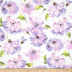 Michael Miller Spring Fling Tallulah Lavender from @fabricdotcom  Designed for Michael Miller Fabrics, this cotton print fabric is perfect for quilting, apparel and home decor accents. Colors include taupe, lime, lilac, lavender and a white background.