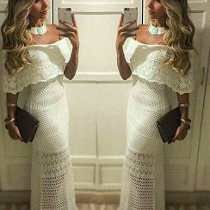 Comprar vestido longo de croche
