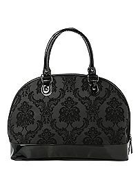 HOTTOPIC.COM - Rock Rebel GG Rose Midnight Damask Overnighter Bag