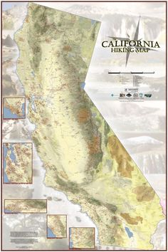 Map shows nearly every hiking trail in California