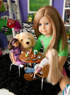 Dolly Dorm Diaries ~ Our American Girl Doll Blog Adventures : { Snow Day ~ Inside Fun! }