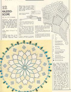 Beaded doily patterns