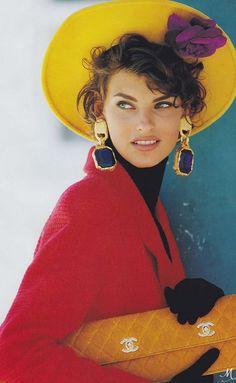 Linda Evangelista in Vogue | Photographed by Patrick Demachelier, Vogue, September 1990