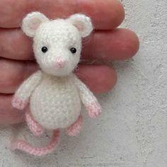Мышка амигуруми игрушка крючком