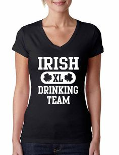 Irish drinking team women Sporty V Shirt saint patricks day