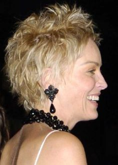 Sharon Stone Pixie Hair Side View
