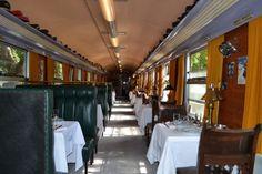 Il rénove une gare et des wagons de train pour en faire un hôtel et nous fait revivre l'époque de l'Orient Express Orient Express, Banquettes, Restaurant, Train, Conference Room, Furniture, Home Decor, Single Bunk Bed, Big Windows