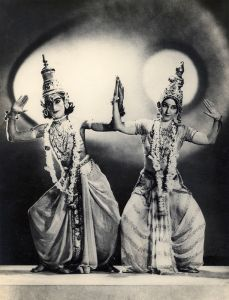 <p>Esther Sherman (right), known as Ragini Devi, and Guru Gopinath performing the Lakshmi Narayan Dance, c. 1933<br /> Bombay, Maharashtra<br /> Courtesy of the Collection of Sukanya Rahman/Ram Rahman</p>