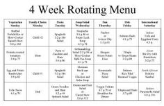 4 Week Rotating Menu2