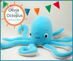 I love a cute octopus! I designed this toy to be huggable and cute and perfect for any child to love, especially kids who are interested in pirates! Ahoy! This listing is for a digital PDF sewing pattern. It will be emailed to you immediately after purchase. This octopus is made with
