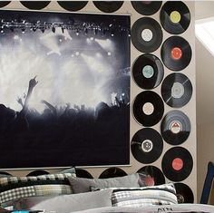 for music lovers #dorm #vinyls and I have a TON of vinyls at home!