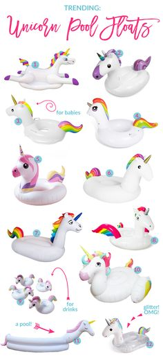 This year is all about unicorns and if you don't have a unicorn pool float yet, you need one for that Summer pool party! I've got you covered here!