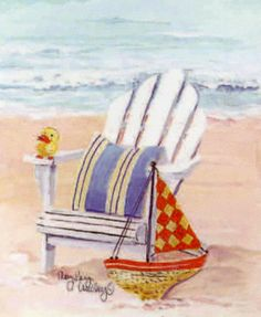 Mary Kay Crowley #Illustration #Ilustración #Sea #mar #marino #océano #náutico #Ocean #Nautic #Art #Beach #Playa #SeaLife #SeaPrint #Coastal #Coast #WhiteSand #Seaside #Aqua #Summer #Shore #SaltyAir Seaside Art, Beach Art, Ocean Beach, Beach Watercolor, Watercolor Paintings, Beach Paintings, Watercolours, Mary Kay, Beach Drawing