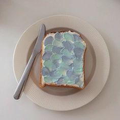 Find images and videos about food, aesthetic and indie on We Heart It - the app to get lost in what you love. Baby Blue Aesthetic, Light Blue Aesthetic, Korean Aesthetic, Aesthetic Colors, Aesthetic Food, Blue Food, Lightroom, At Least, Food And Drink