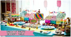 Wreck-it Ralph Party - Sugar Rush Dessert Table {Part 2}