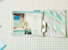 Tutorial from Anna-Maria Wolniak to create attractive background for layouts, cards, etc. #scrapbook #tutorial #lilybee
