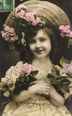 sweet little girl with Spring flowers