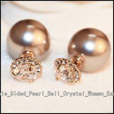 Simple Earrings, Cute Earrings, Beautiful Earrings, Double Earrings, Crystal Earrings, Earrings Handmade, Women's Earrings, Diamond Earrings, Diamond Stud