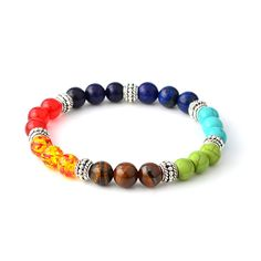 Beaded Strand Bracelets Yoga Jewelry Bracciali Stone Bracelet Pulseras Masculina Natural Stone Beads Bracelet Men Couple Jewelry #Affiliate