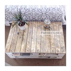 Thank you for taking a closer look at our listing! This is our most popular pallet coffee table so far. This industrial table will definitely
