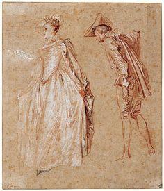 IMAGES OF WATTEAU DRAWINGS | Antoine Watteau | | Art or Artsy | Pinterest