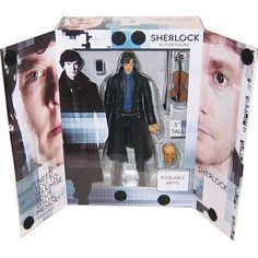 This is the Sherlock With Violin And Skull Action Figure. Sherlock does come with the violin, skull and also a phone. The figure is very detailed and is great f