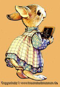 Hasenmädchen Bunny Hopper Sammleredition Anziehpuppe ausgestanzt Kleider Hüte