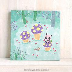 tomoto: Mushroom cupcakes