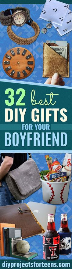 Cool DIY Gifts to Make For Your Boyfriend - Easy, Cheap and Awesome Gift Ideas to Make for Guys - Fun Crafts and Presents to Give to Boyfriends - Men Love These Gift Card Holders, Mason Jar Kits, Thoughtful Handmade Christmas Gifts - DIY Projects for Teen Diy Gifts To Make, Diy Gifts For Men, Crafts For Teens To Make, Kids Diy, Men Gifts, Boyfriend Crafts, Gifts For Your Boyfriend, Boyfriend Ideas, Boyfriend Presents
