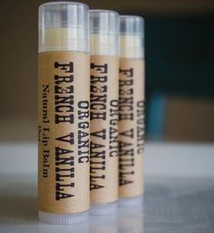 ORGANIC FRENCH VANILLA Lip Balm Insanely by thepureapothecary, $5.00