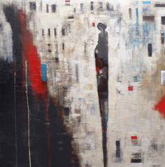 Lamour des temporelles, Mixed Media Painting, Poulin