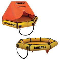 LALIZAS Liferaft LEISURE-RAFT image Ocean Sailing, Scuba Gear, Rafting, Under The Sea, Boats, Gym Bag, Ships, Grey, Image